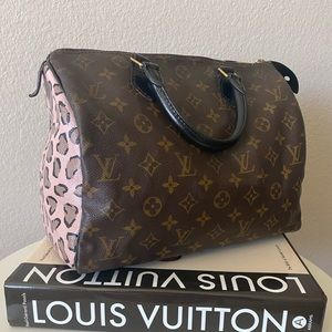 Louis Vuitton Speedy 30 Custom Painted Dyed